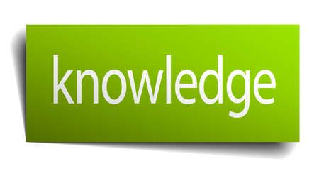 green paper: knowledge green paper sign isolated on white Illustration