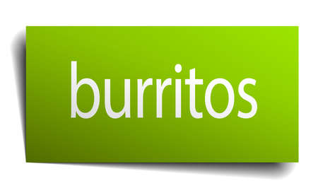 green paper: burritos green paper sign on white background