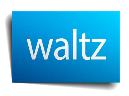 waltz: waltz blue paper sign isolated on white