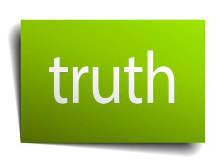 truth: truth square paper sign isolated on white Illustration