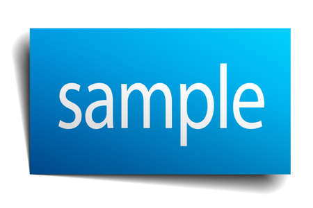 isolated paper: sample blue square isolated paper sign on white