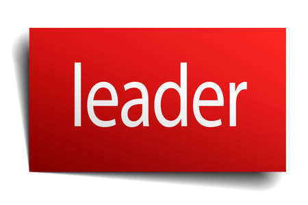 isolated paper: leader red square isolated paper sign on white