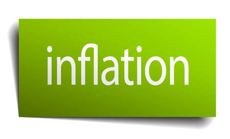 inflation: inflation green paper sign isolated on white Illustration