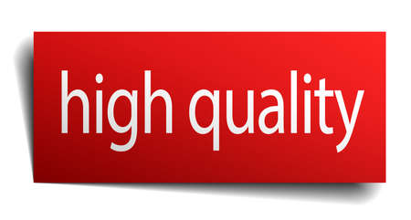alta calidad: high quality red square isolated paper sign on white