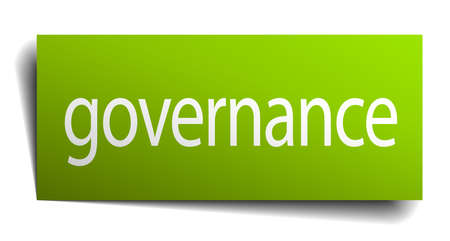 governance: governance green paper sign isolated on white