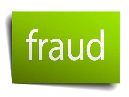 green paper: fraud green paper sign isolated on white