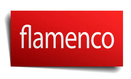 isolated paper: flamenco red square isolated paper sign on white