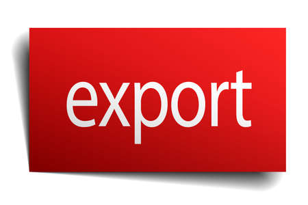 isolated paper: export red square isolated paper sign on white Illustration
