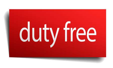 devoir: devoir signe carr� rouge de papier isol� gratuitement sur blanc