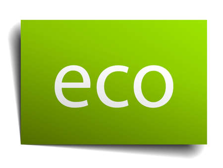 eco notice: eco green paper sign isolated on white Illustration