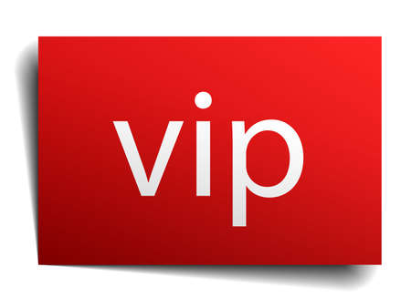 on white background: vip red paper sign on white background Illustration