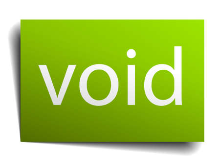 the void: void square paper sign isolated on white