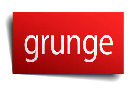 isolated paper: grunge red square isolated paper sign on white