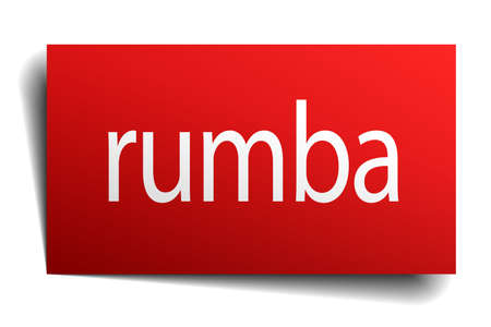 rumba: rumba red paper sign isolated on white Illustration