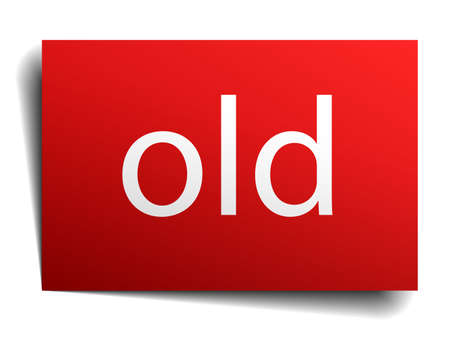 isolated paper: old red square isolated paper sign on white Illustration