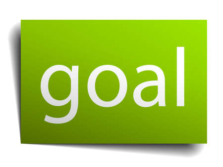 green paper: goal green paper sign isolated on white