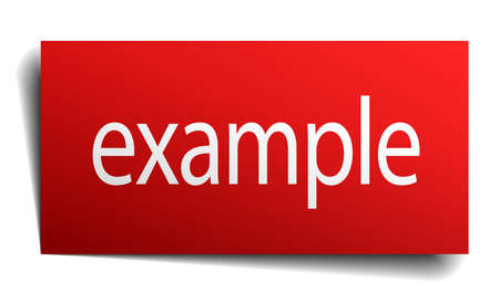 example red square isolated paper sign on white