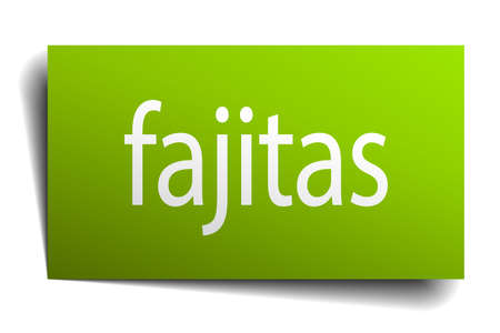 green paper: fajitas green paper sign isolated on white Illustration