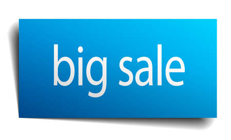 isolated paper: big sale blue square isolated paper sign on white Illustration