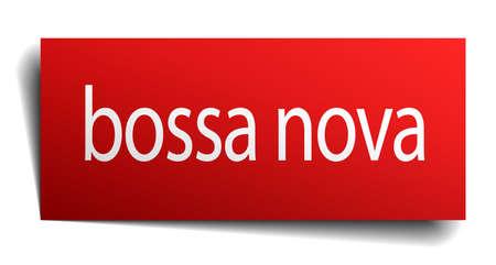 nova: bossa nova red paper sign isolated on white