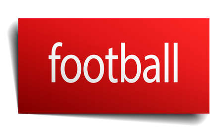 isolated paper: football red square isolated paper sign on white Illustration
