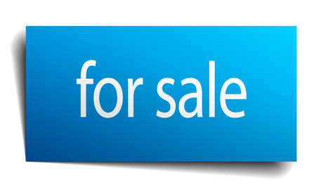 satılık: for sale blue paper sign on white background