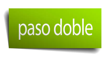 paso doble: paso doble square paper sign isolated on white