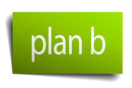 plan b: plan b square paper sign isolated on white