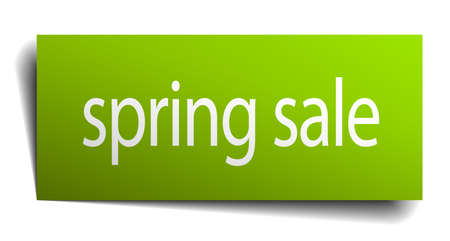 spring sale: spring sale square paper sign isolated on white Illustration