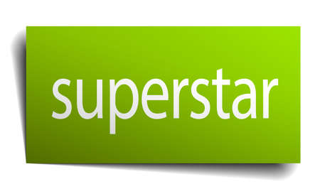 superstar: superstar square paper sign isolated on white