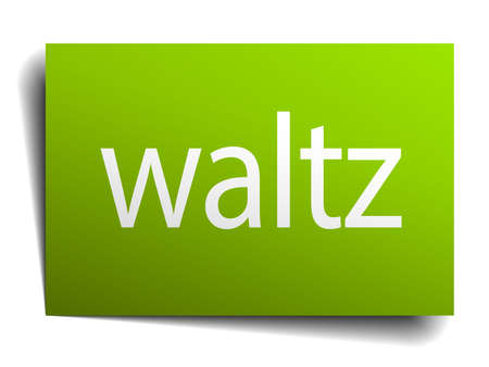 waltz: waltz square paper sign isolated on white