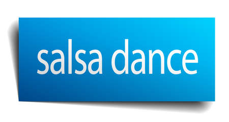 salsa dance: salsa dance blue paper sign isolated on white