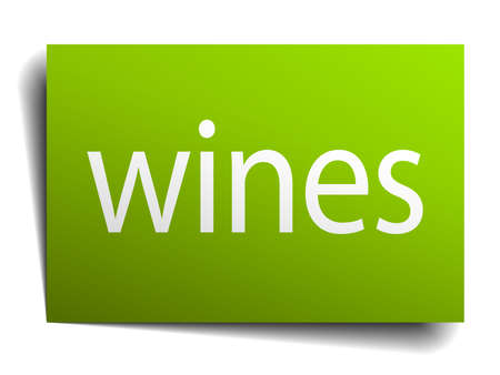 wines: wines square paper sign isolated on white