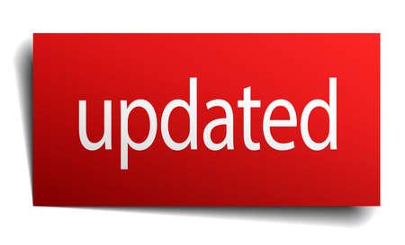 updated: actualizado signo de papel rojo sobre fondo blanco