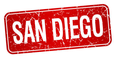 san diego: San Diego red stamp isolated on white background