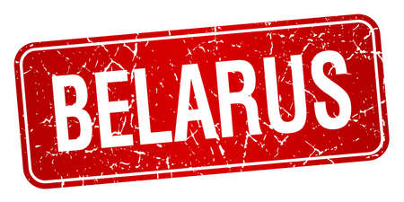belarus: Belarus red stamp isolated on white background