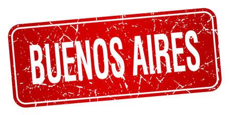 buenos aires: Buenos Aires roten Stempel isoliert auf wei�em Hintergrund Illustration