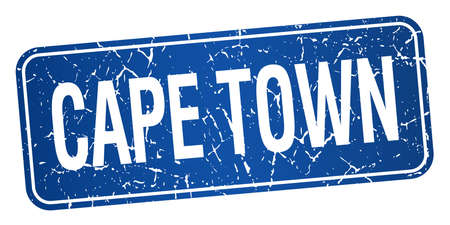 cape town: Cape Town blue stamp isolated on white background