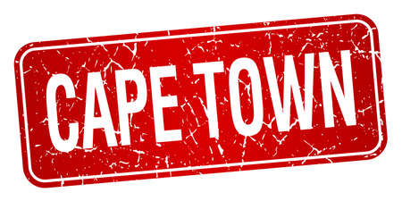 cape town: Cape Town red stamp isolated on white background Illustration