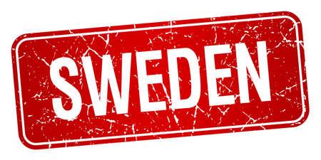 sweden: Sweden red stamp isolated on white background Illustration