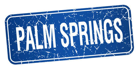 springs: Palm Springs blue stamp isolated on white background Illustration