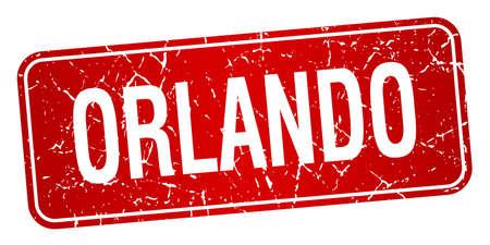 orlando: Orlando red stamp isolated on white background