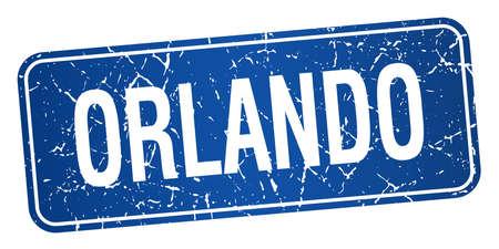 orlando: Orlando blue stamp isolated on white background