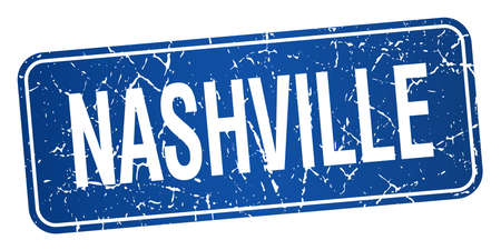 nashville: Nashville blue stamp isolated on white background
