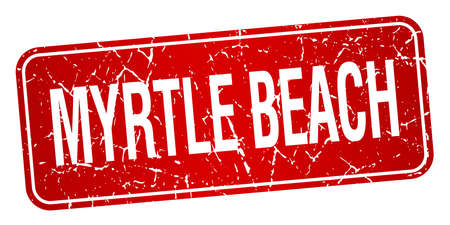 myrtle: Myrtle Beach red stamp isolated on white background