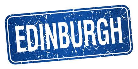 edinburgh: Edinburgh blauen Stempel auf wei�em Hintergrund isoliert Illustration