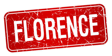 florence: Florence red stamp isolated on white background
