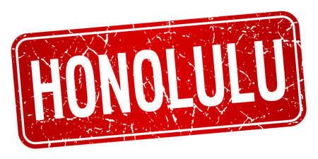 honolulu: Honolulu red stamp isolated on white background