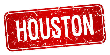 houston: Houston red stamp isolated on white background Illustration