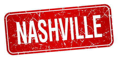 Nashville red stamp isolated on white background Vector